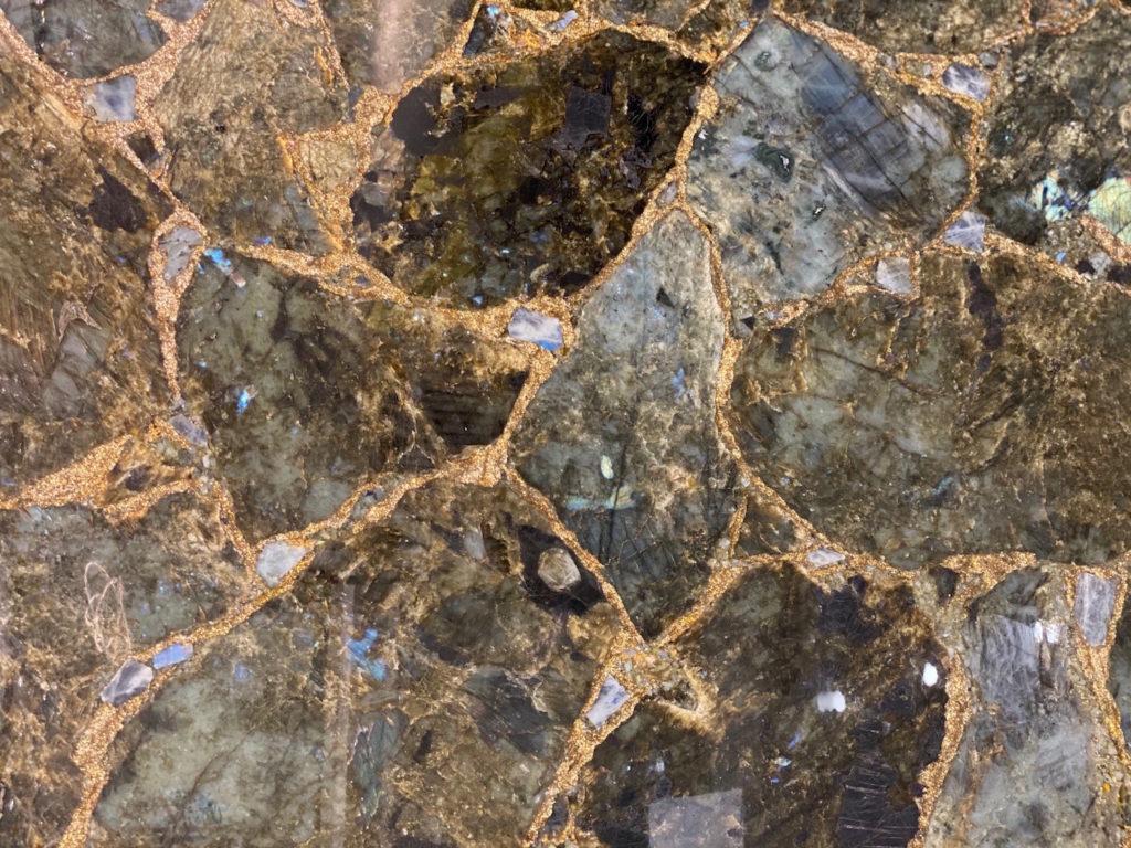 Labradorite with Gold
